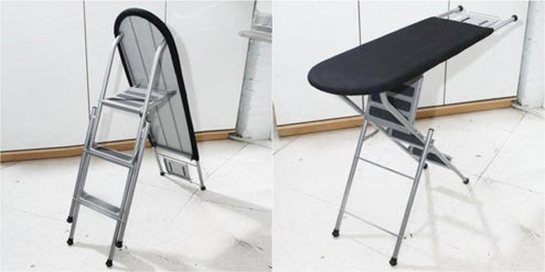 Space Saving Ironing Board Ladder: As Smart As It Is Deadly