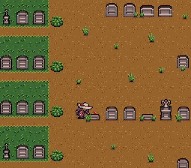 A Video Game Where You Walk Through A Graveyard And Look At Graves