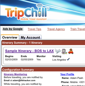TripChill Alerts You in Real Time of Delays, Itinerary Changes