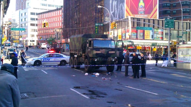 An Army Truck Killed A Pedestrian While Delivering Relief Supplies In NYC