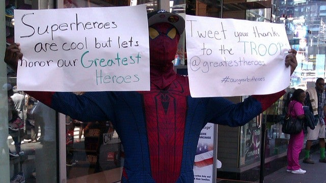 Happy Memorial Day From Your Friendly Neighborhood Spider-Man