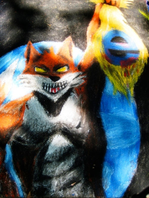Chalk Drawing Depicts Epic Browser War (With A Touch of Conan)