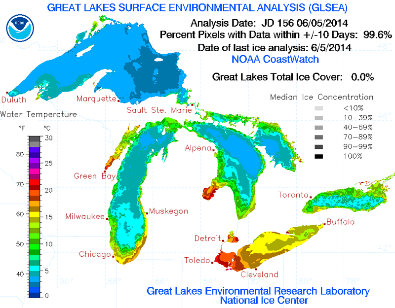 It's June 7 and the Great Lakes Are Finally Ice-Free