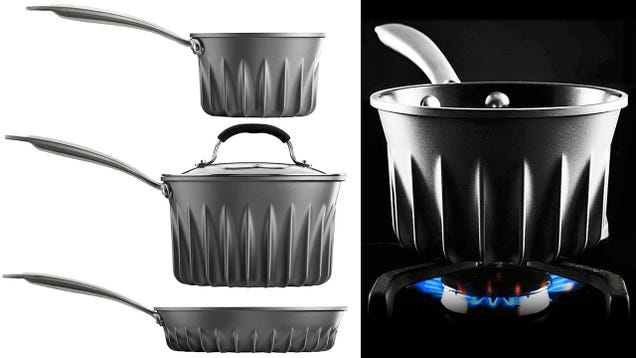 The Heat-Distributing Flares On This Pot Make Dinner Cook Even Faster