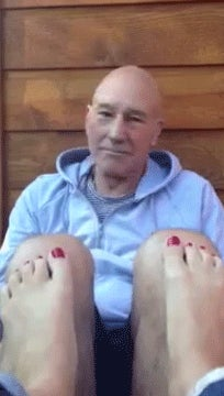 A Stoned Sir Patrick Stewart Teaches His Girlfriend How to Act