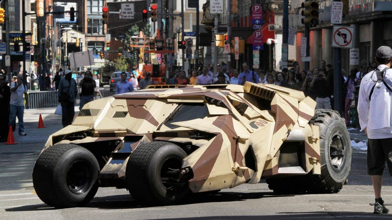 The Dark Knight Rises And Drives Down the Street