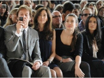 Famous And 'Fat' Fill Fashion Show Front Rows