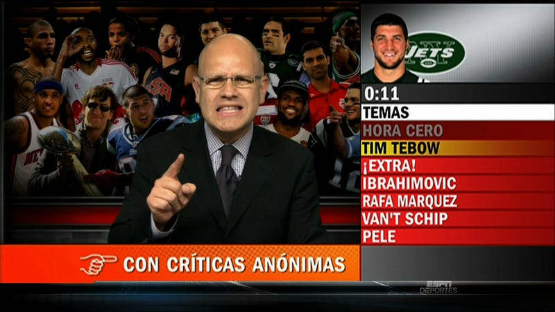 Even ESPN Deportes Is Subject To The Tebowization Of The Worldwide Leader