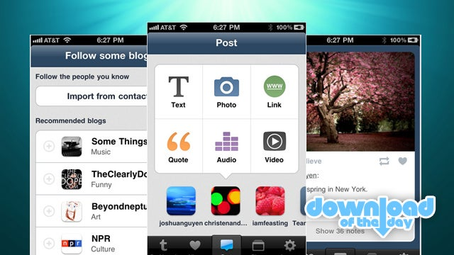 Tumblr for iPhone 2.0 Makes Managing Tumblr Blogs Easier on the Go Than on the Web