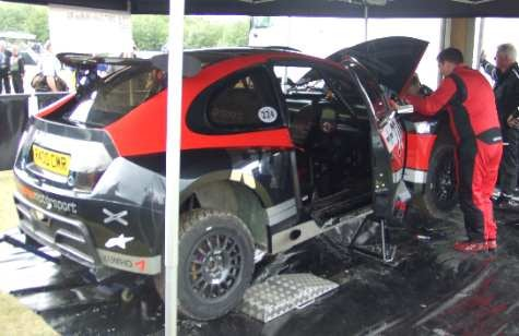 Colin McRae Shows off New Rally Car at Goodwood