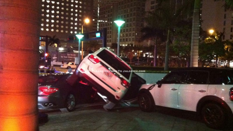 Valet Car Crash Miami