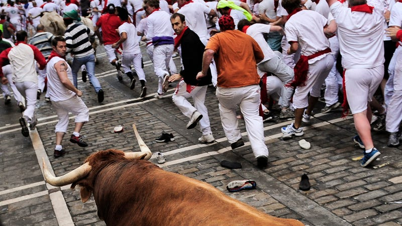 All the Craziness From the Annual Running of the Bulls