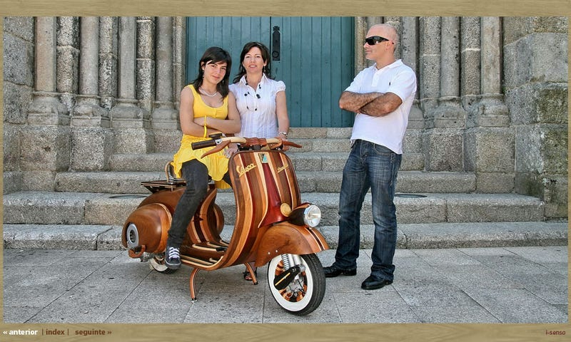 Wooden Vespa Is Dining Room Furniture You Can Die On