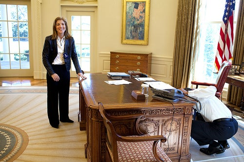 Obama And Caroline Kennedy Play Hide And Seek In Oval Office