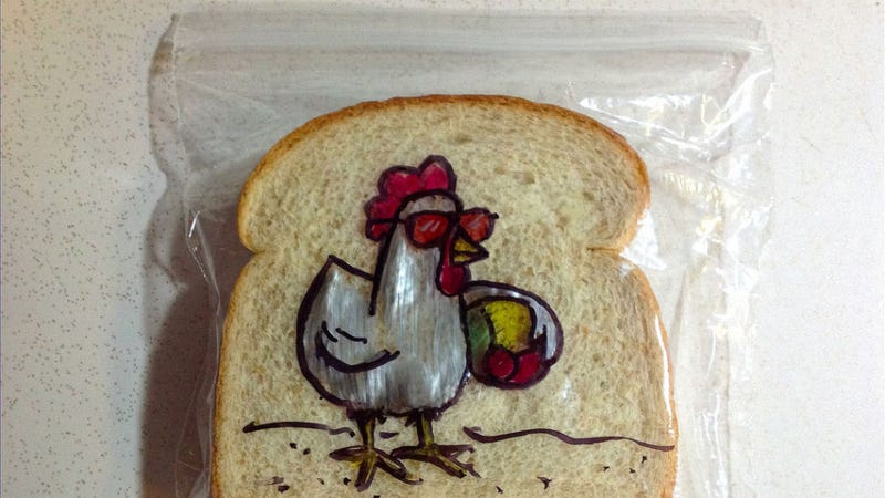 Creative Dad Makes the Best Sandwich Bag Doodles
