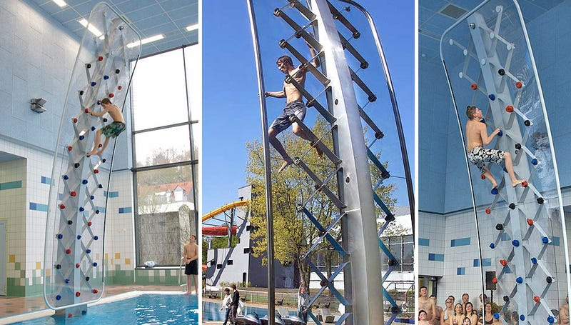 You'll Splash, Not Crash, When You Fall Off This Climbing Wall