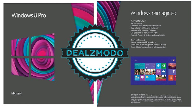 Dealzmodo: Windows 8 Upgrade, Dual Monitors, Bamboo Stylus, Storage