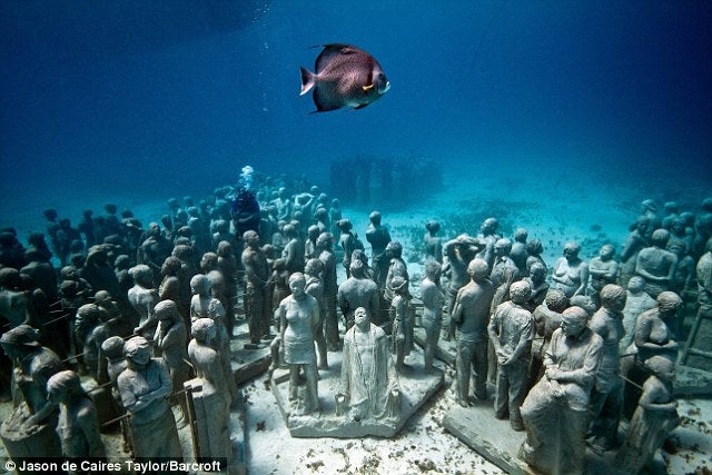 This Haunting Reef Is Made Out of (Fake) People