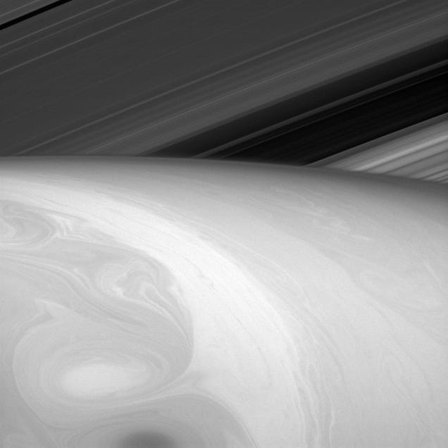 Two-mile-high structures rising on Saturn's rings