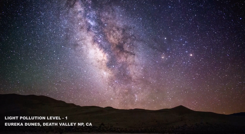 Check Out How the Different Levels of Light Pollution Screws Us From Seeing Stars