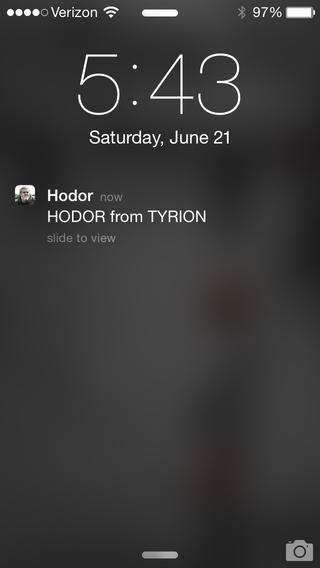 Yo, Hodor App Is Very Hodor