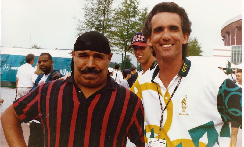 The Iron Sheik Tries To Cut The Line At The Atlanta Olympics: More Wrestler Run-Ins