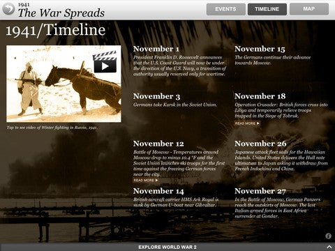 World War II Interactive App Gallery