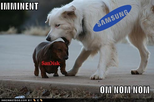 Samsung Wants to Buy SanDisk to Complete Domination of World's Flash Memory