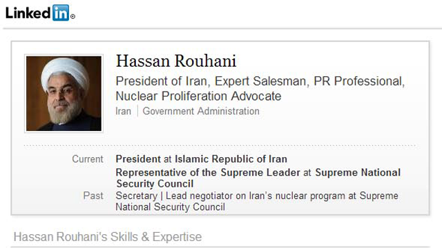 Israel Creates Fake LinkedIn Profile for Iranian President