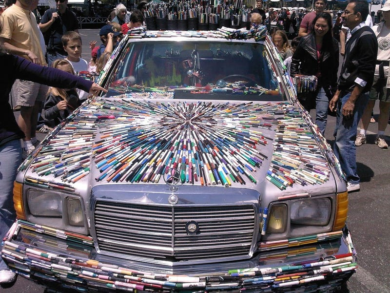 Mercedes Pens Art Car Baffles, Entertains At Maker Faire