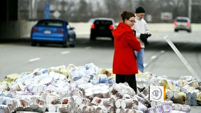 Massive ice cream spill shuts down Indiana highway