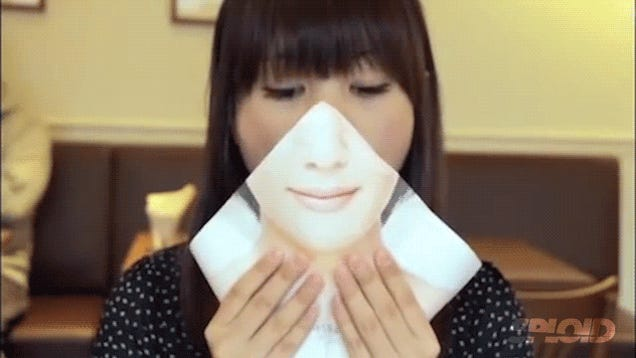 Japanese fast-food chain invents a mask for women to eat burgers
