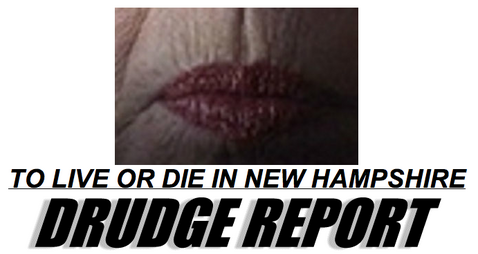 Drudge Hammers Clinton's Chapped, Pixilated Lips