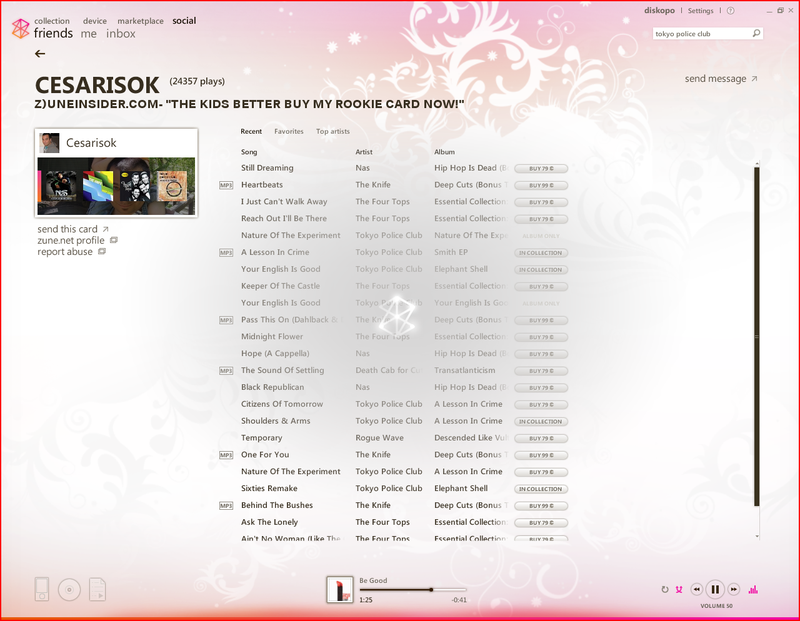 Zune 2.5 Update Screenshot Tour