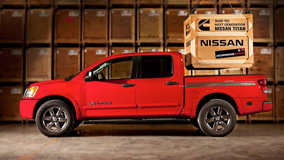 nissan renewing promise of 5 0 cummins turbodiesel titan 39 coming soon 39. Black Bedroom Furniture Sets. Home Design Ideas