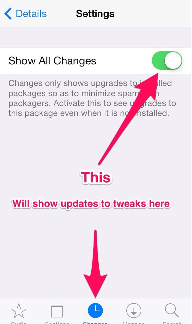 Jailbreak Tip: Get updates for tweaks in Cydia