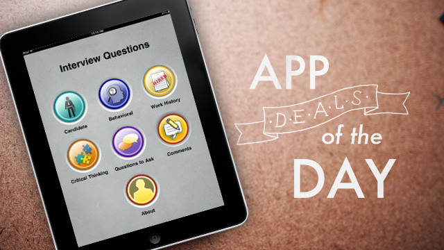 Daily App Deals: Get Interview Questions Pro for iOS for Free in Today's App Deals