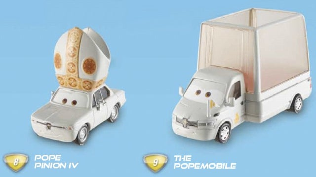 Sweet Edsel Jesus, there's a Pope Car in Cars 2