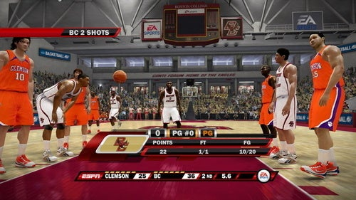 Double the Presentation in NCAA Hoops 10