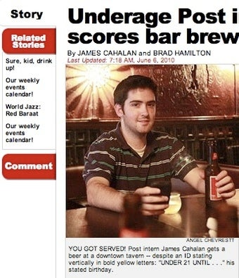 The New York Post Guide to Underage Boozing, By a Lucky Intern