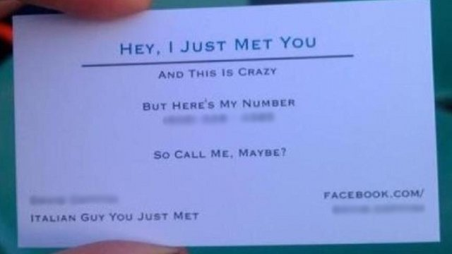 Is This 'Call Me Maybe' Business Card Endearing or Obnoxious? (UPDATED)