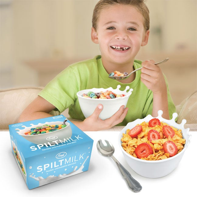 "Spilt Milk Cereal Bowl Is Designed ""Like An Accident In Progress"""