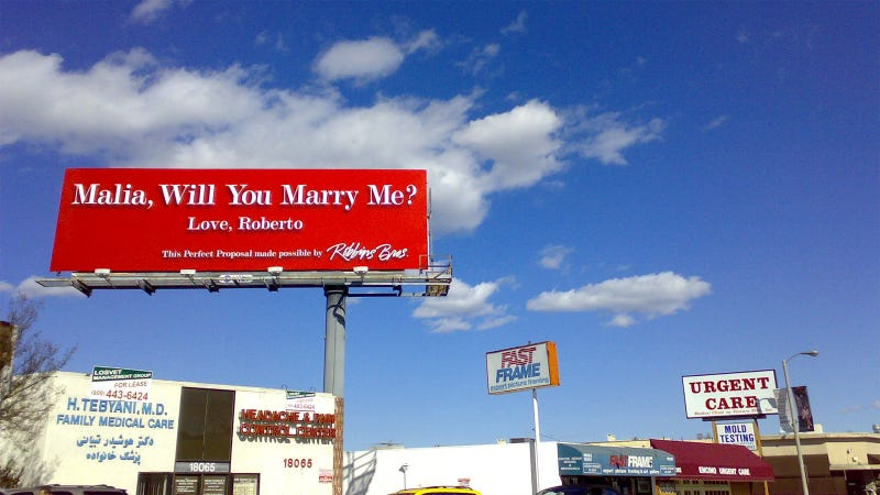 8 Ridiculously Huge Public Declarations of Love