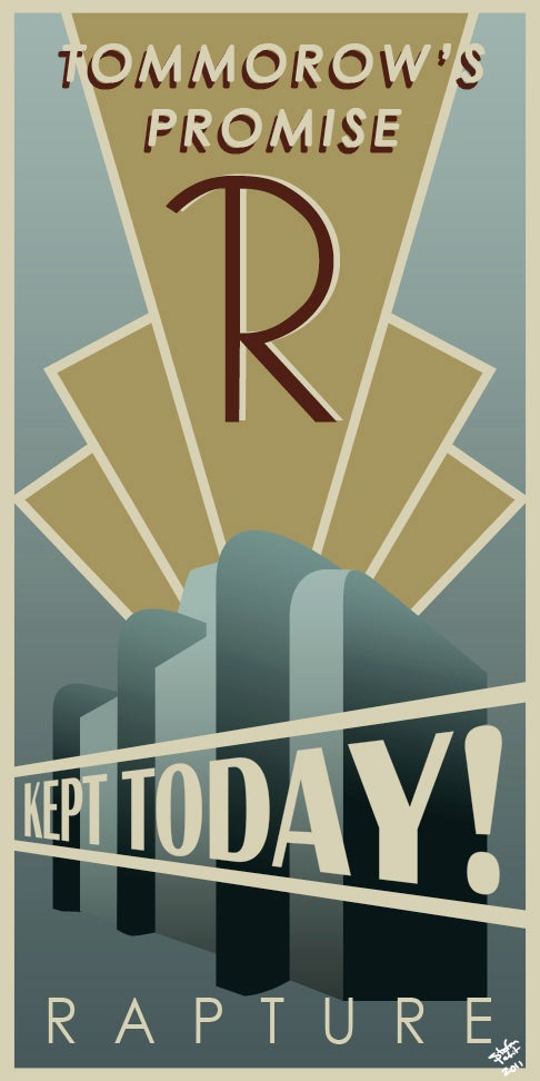 Make Your House Look Like Rapture With These Awesome Posters