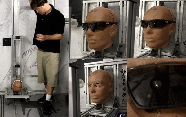 Oakley's 'O Lab' Shoots Ball Bearings at, Drops Weights on Sunglasses