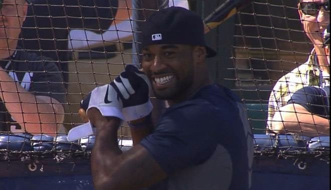 Calvin Johnson Goes Yard At Comerica Park