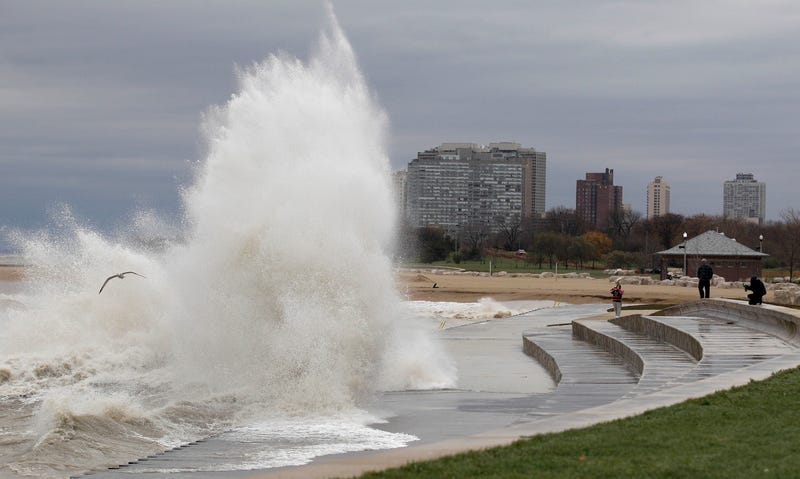 Hurricane Sandy Battering Chicago