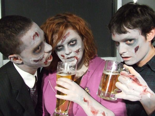 The most important question of 2013 answered: Can zombies get drunk?