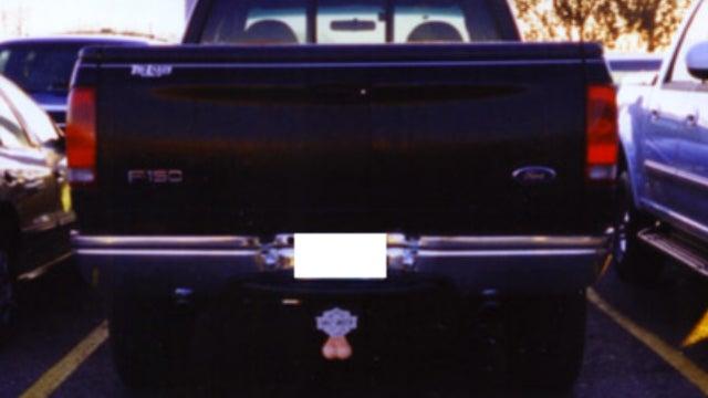 Woman's 'Obscene' Truck Nutz Land Her in Court