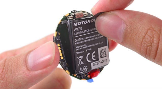 Moto 360 Teardown: Battery Not As Advertised